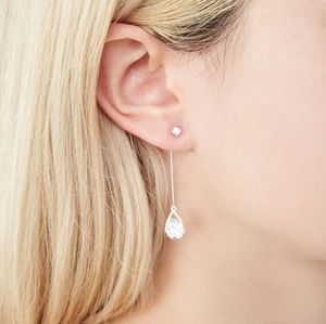 NWOT Cubic Zirconia Stone Drop earrings